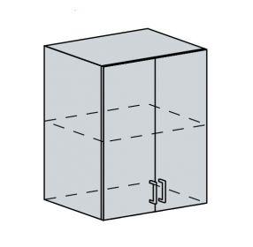 60H h. skříňka 2-dveřová TECHNO bk/oranžová metalic
