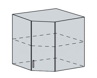 60HR h. skříňka rohová GREECE bk/bílá metalic