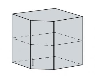 60HR h. skříňka rohová VALERIA bk/white stripe