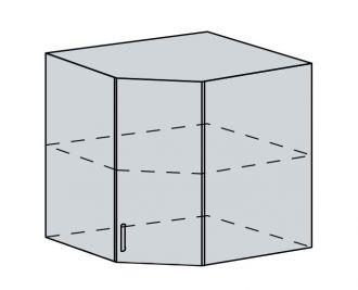 60HR h. skříňka rohová VICTORIE bílý santál