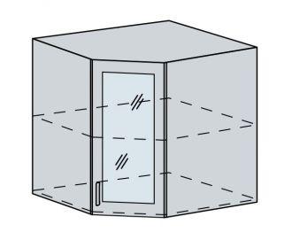 60HRS h. vitrína rohová VALERIA wk/bílá lesk