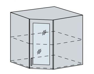 60HRS h. vitrína rohová VALERIA bk/bílá lesk