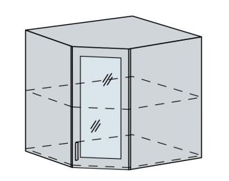 60HRS h. vitrína rohová PRAGA bk/wenge