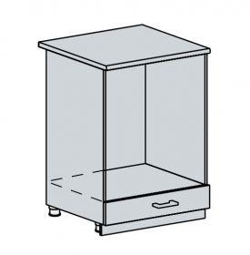 60NT d. skříňka na vestavnou troubu GREECE bk/bílá metalic