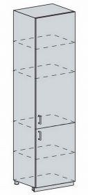 60PV potr. skříň 2-dveřová TECHNO bk/oranžová metalic