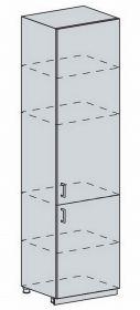 60PV potr. skříň 2-dveřová PROVENCE šedá