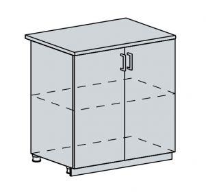 80D d. skříňka 2-dveřová GREECE bk/bílá metalic
