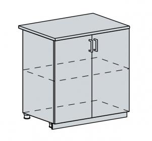 80D d. skříňka 2-dveřová VALERIA bk/black stripe