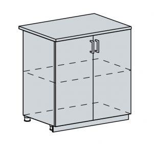 80D d. skříňka 2-dveřová PROVENCE šedá