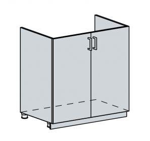 80DZ d. skříňka 2-dveřová pod dřez PROVENCE šedá