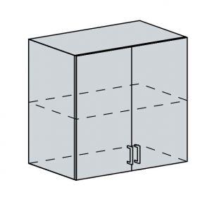 80H h. skříňka 2-dveřová PROVENCE vanilka