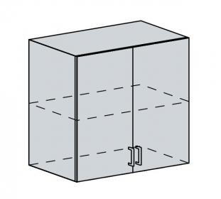 80H h. skříňka 2-dveřová TECHNO bk/oranžová metalic