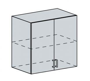 80H h. skříňka 2-dveřová GREECE bk/granát metalic
