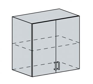 80H h. skříňka 2-dveřová ANASTASIA bříza