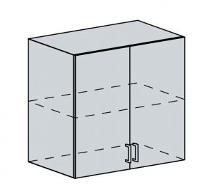 80H h. skříňka 2-dveřová VALERIA bk/red stripe