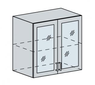 80HS h. vitrína 2-dveřová VALERIA bk/black stripe