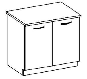 D80 dolní skříňka dvoudveřová CHAMONIX II
