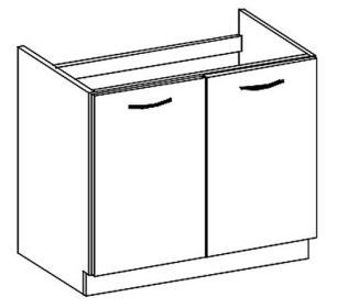 D80ZL dolní skříňka pod dřez GREY