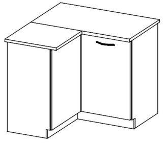 DRP dolní rohová skříňka GREY levá