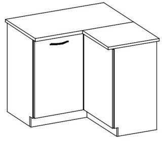 DRP dolní rohová skříňka GREY pravá
