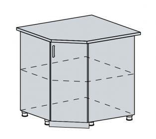 90DRS d. skříňka rohová VALERIA wk/bílá lesk