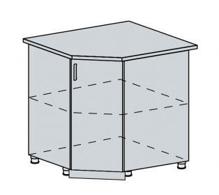 90DRS d. skříňka rohová TECHNO bk/oranžová metalic