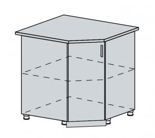 90DRS d. skříňka rohová VERONA zlatý jasan