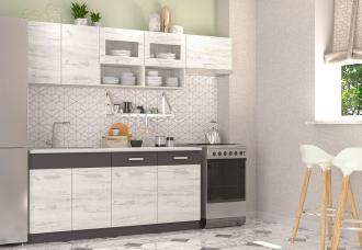 Kuchyně Moreno III 240 dub kraft bílý/grafit
