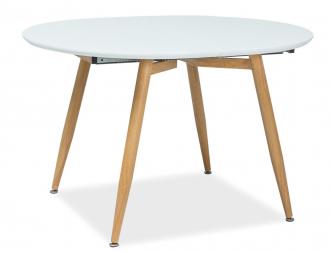 Jídelní stůl rozkládací AVON 120x100 bílá/dub