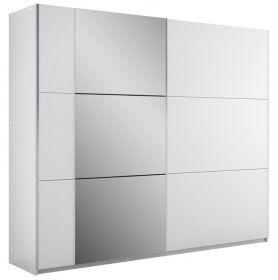 Šatní skříň BISMARK 250 bílá/bílá