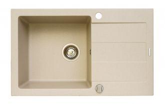 Pyragranitový dřez SPARTA PLUS LUX 1B 1D (78x48) beige