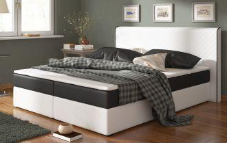Postel s matrací BERGAMO 180x200cm (PURbílá/černá)