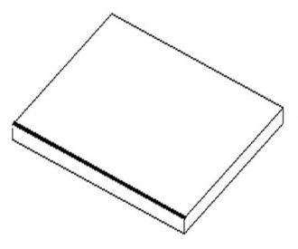 Koupelnová deska 40x50 cm bílá