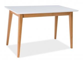 Jídelní stůl BRAGA bílá/buk