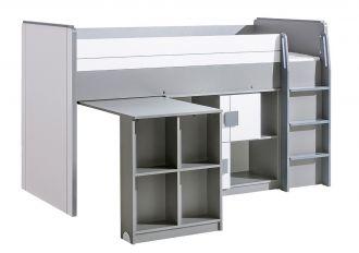 GIMMI G19 patrová postel (komplet G15 + G17) antracit/bílá
