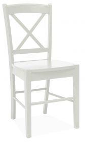 Jídelní dřevěná židle CD-56 bílá