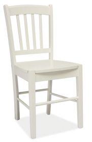 Jídelní dřevěná židle CD-57 bílá