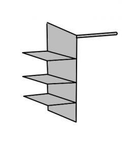 Vnitřní rozdělovač skříně s policemi 956 šířka 87 cm