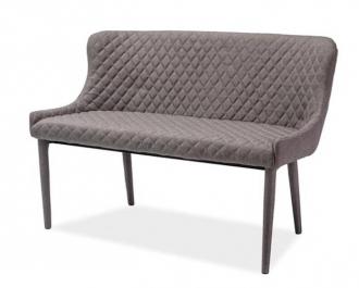 Čalouněná lavice COLIN šedá