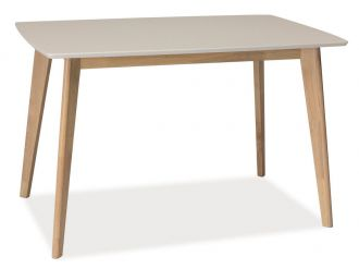 Jídelní stůl COMBO bílá/dub