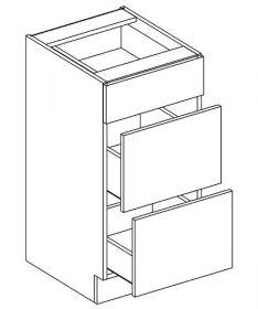 D40/S3 dolní skříňka se zásuvkami PAULA šedá/mocca