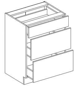 D60/S3 dolní skříňka se zásuvkami PAULA šedá/mocca