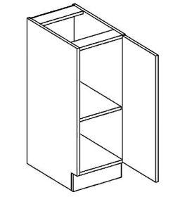 D30 dolní skříňka jednodvéřová pravá PAULA šedá/mocca