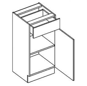 D40S/1 dolní skříňka jednodvéřová s 1 zásuvkou, pravá, BIANCA