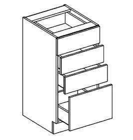 D40S4 dolní skříňka se zásuvkami PREMIUM de LUX hruška
