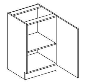 D50P dolní skříňka jednodvéřová PREMIUM de LUX hruška