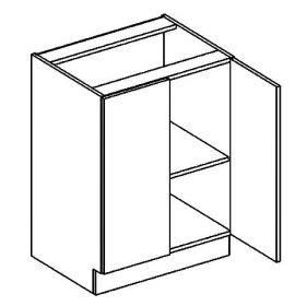 D60 dolní skříňka dvoudvéřová DARK BIS