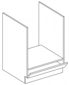 DK60 skříňka na vestavnou troubu MIA bílá
