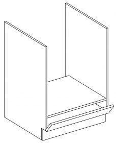 DK60 skříňka na vestavnou troubu PAULA bílá mat