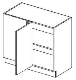 DNPL dolní skříňka do rohu rovná COSTA 100 cm